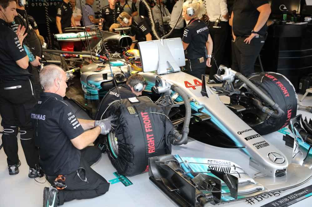Lewis Hamilton eine 1000stel langsamer als Vettel