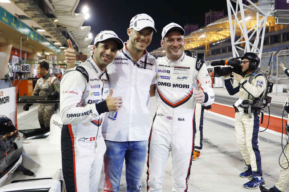 Porsche LMP Team: Neel Jani, Andre Lotterer, Nick Tandy (l-r)