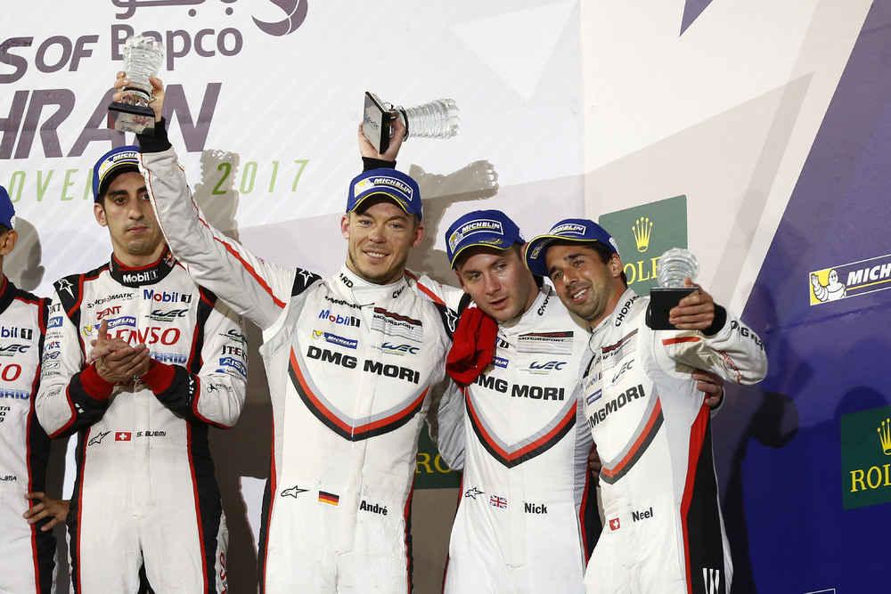 Porsche LMP Team: Andre Lotterer, Neel Jani, Nick Tandy