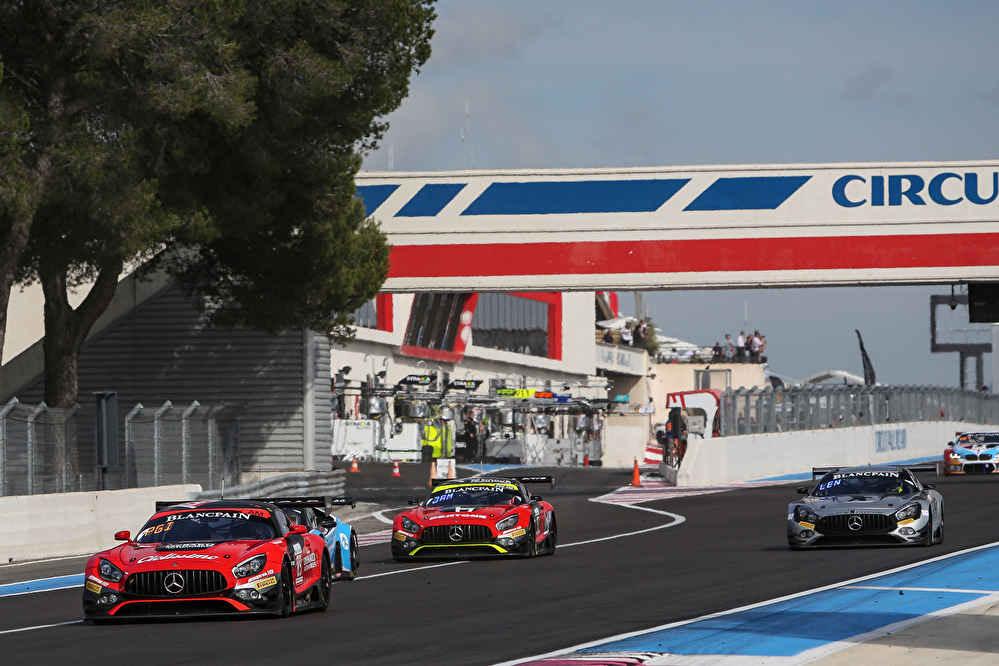 Insgesamt vier Mercedes-AMG GT3 in den Top Ten