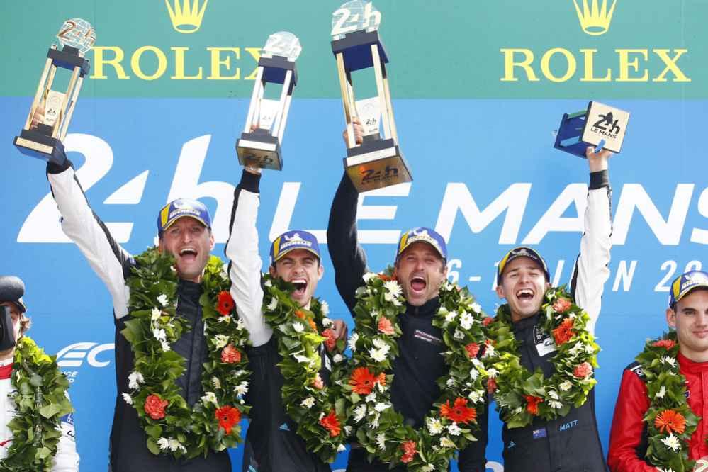 Christian Ried (D), Julien Andlauer (F), Patrick Dempsey, Matt Campbell (AUS)