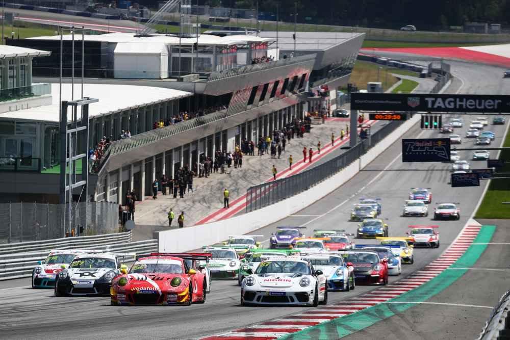 Start zum Porsche Super Sports Cup auf dem Red Bull Ring in Österreich
