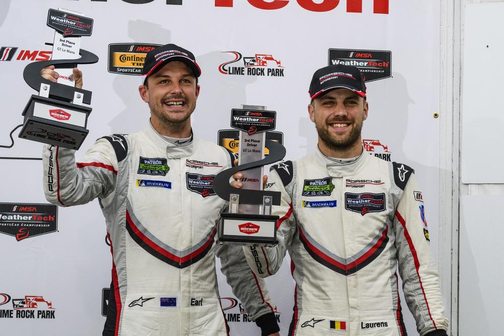 Porsche GT Team: Earl Bamber (l), Laurens Vanthoor