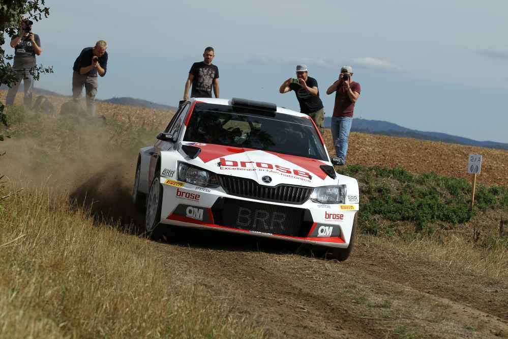 Dominik Dinkel wird zweiter und möchte bei der Rallye Erzgebirge voll angreifen