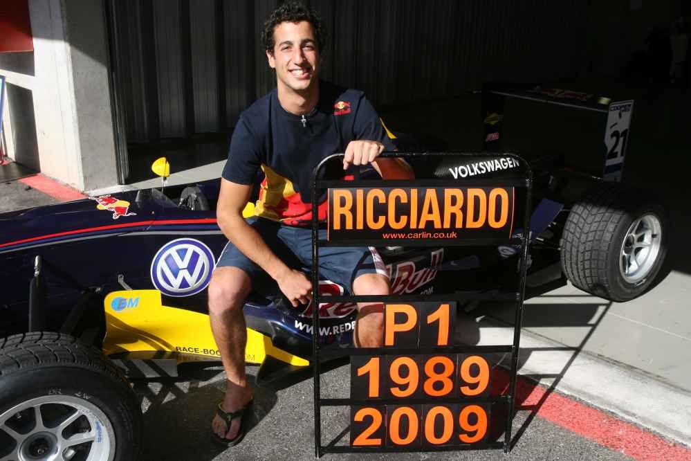 Formel-3-Historie: Daniel Ricciardo (AUS, Carlin), Dallara F308 Volkswagen, Britische F3 2009