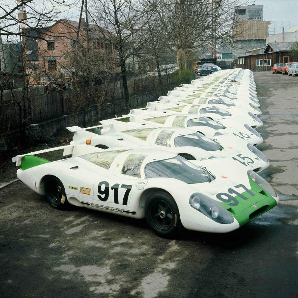 Der 917-001 wurde als erstes von 25 Exemplaren der Homologationsserie im Frühjahr 1969 aufgebaut