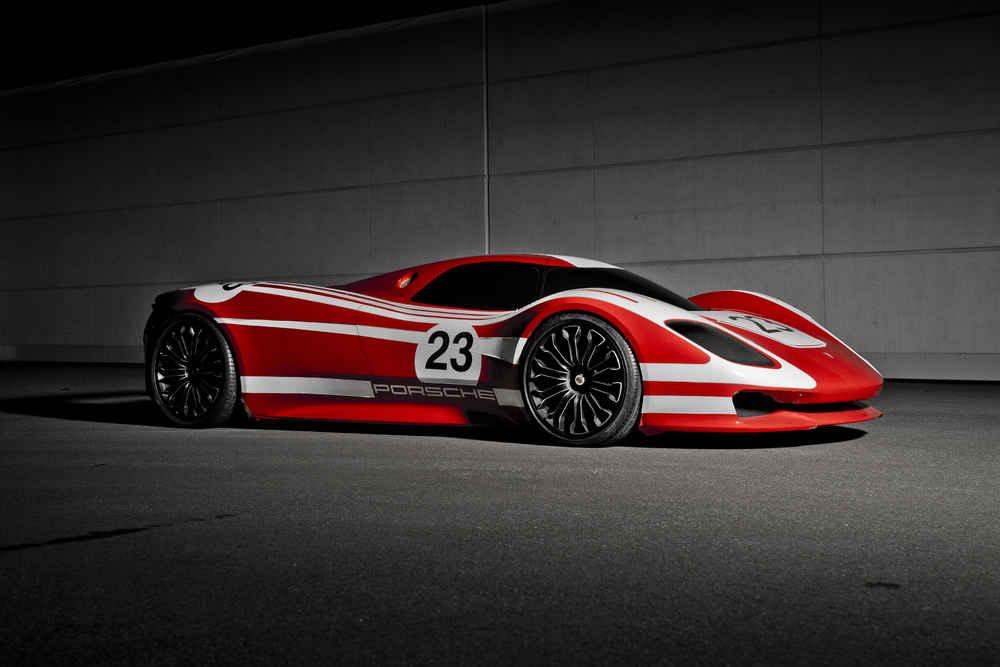 Zum 1.Mal präsentiert Porsche im Rahmen seiner 917Sonderausstellung eine Designstudie des Rennwagens