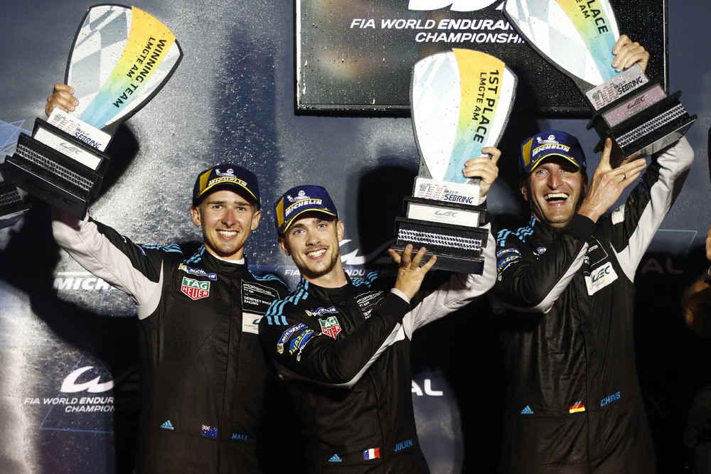 Dempsey Proton Racing (77), Matt Campbell (AUS), Julien Andlauer (F), Christian Ried (D) (l-r)
