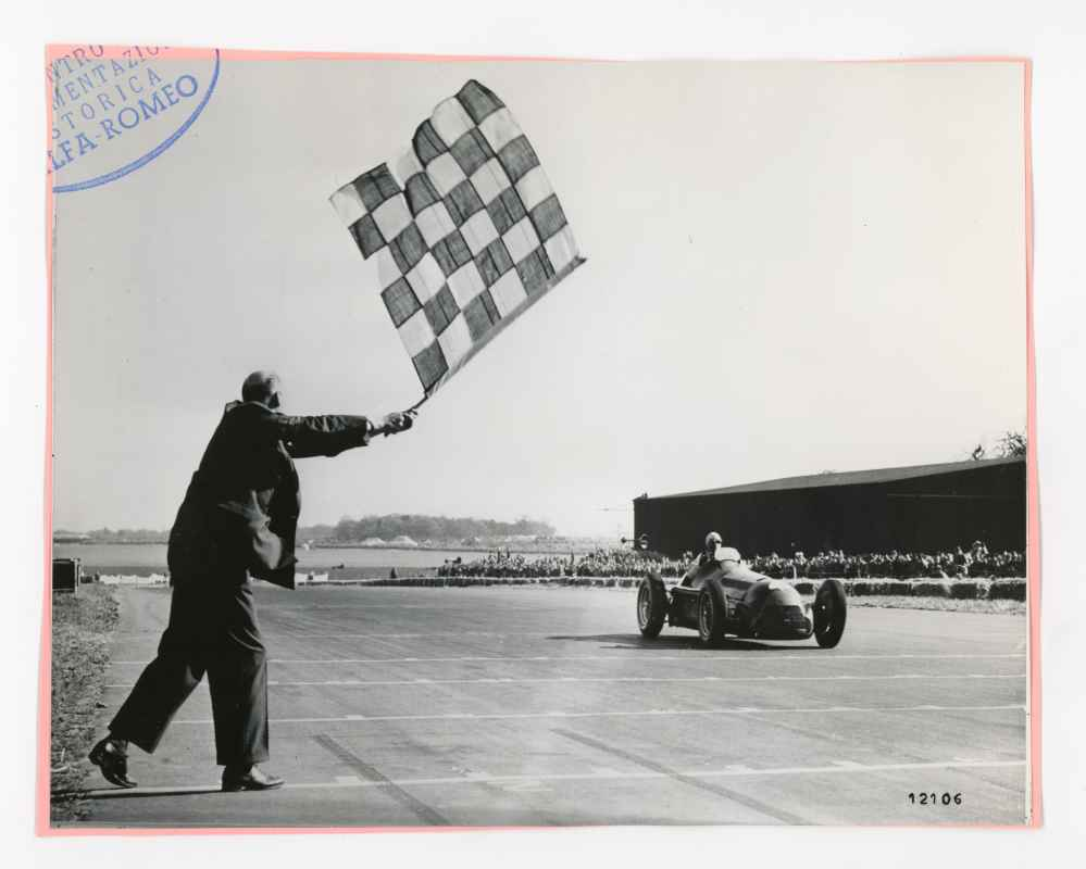 GP von Silverstone 1950: Nino Farina im Alfa Romeo 158