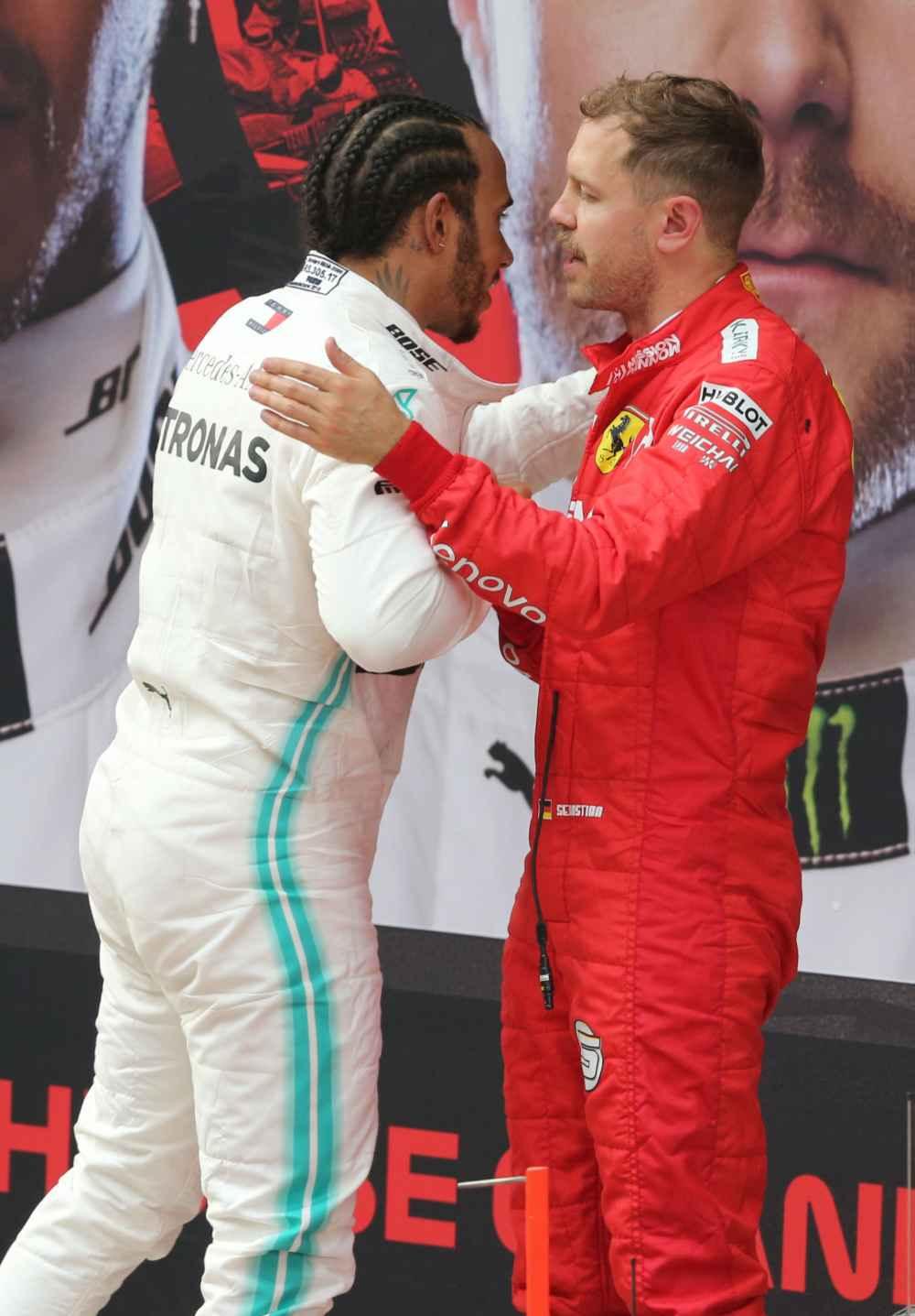 Hamilton und Vettel nach dem GP China 2019