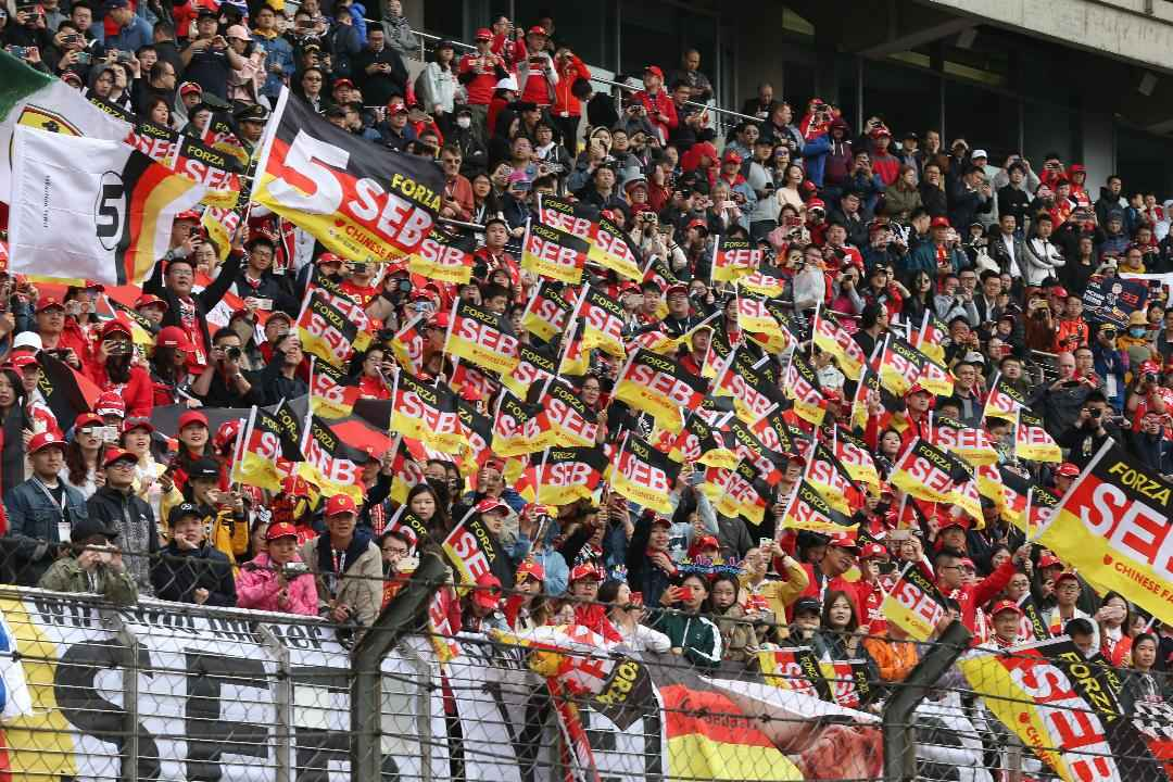Sebastian Vettel Fans beim GP China 2019