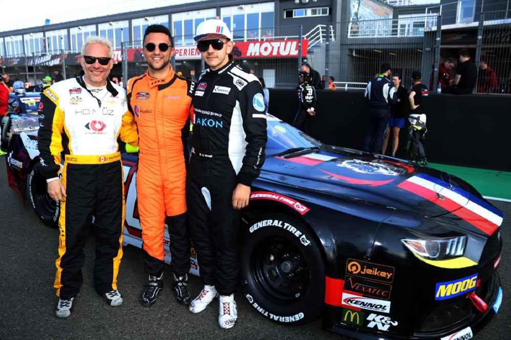 von links: Ex F1 Weltmeister Jacques Villeneuve  (CAN), Loris Hezemans (NLD) Giorgio Maggi (CHE)