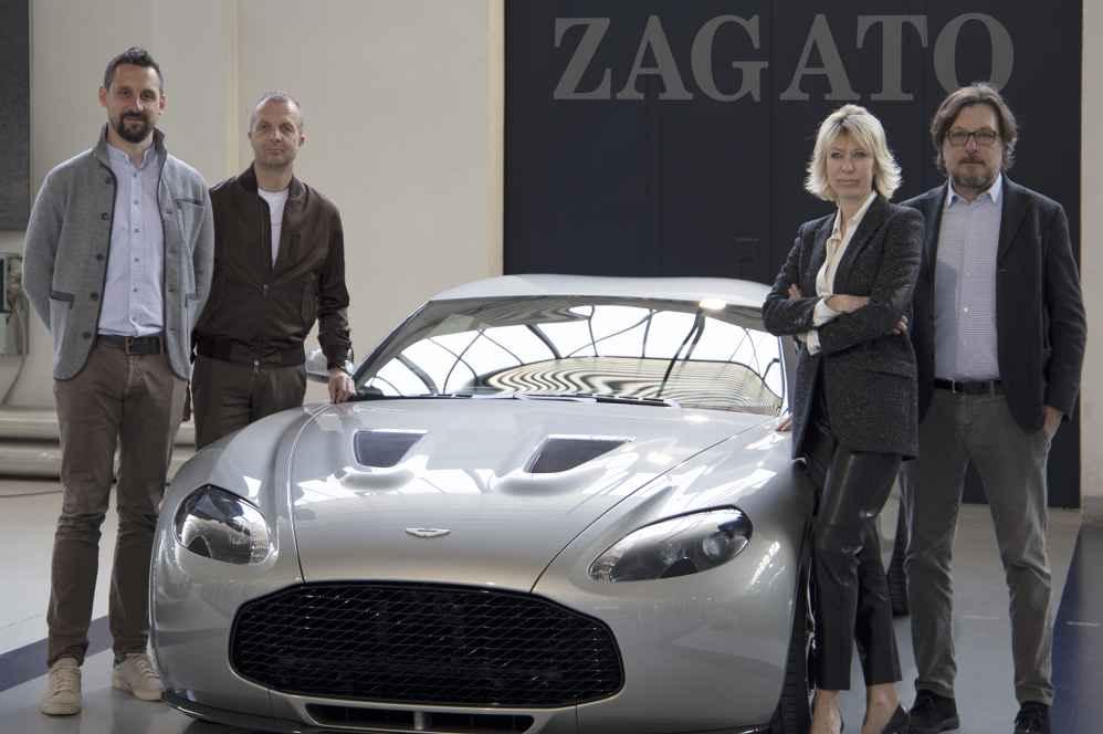 Dr. Florian Kamelger und Dr. Andreas Baenziger mit den Partnern von Zagato Milano