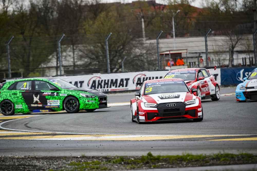 Pokale für den Audi RS 3 LMS in Belgien und in Russland