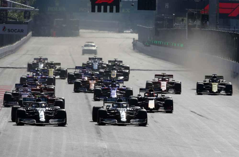 Der Start zum GP Aserbaijdschan 2019
