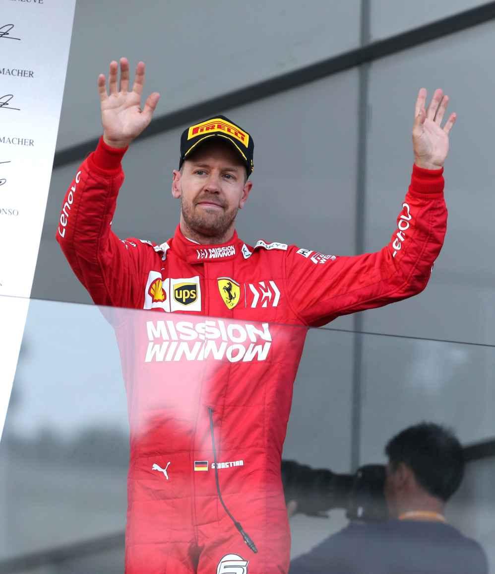 Vettel beendet das Rennen auf P3 in Baku