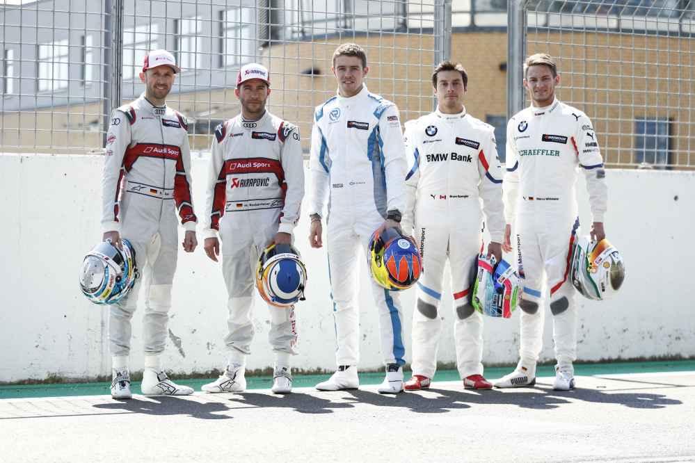 DTM-Champions: René Rast, Mike Rockenfeller, Paul Di Resta, Bruno Spengler, Marco Wittmann v.l.n.r.