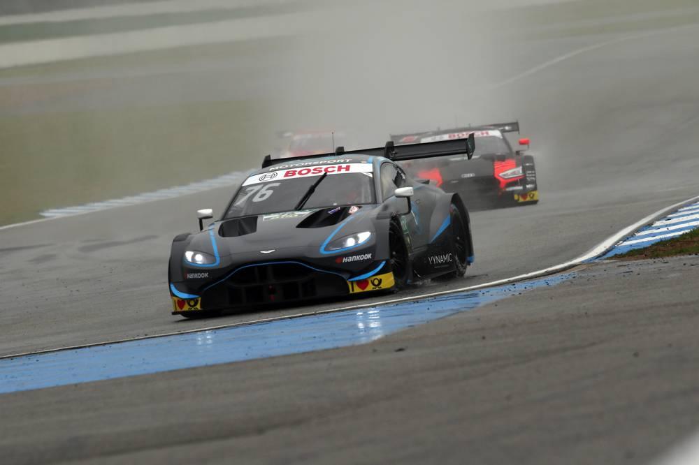 Im Regen absolut konkurrenzfähig. DTM Neueinsteiger Aston Martin