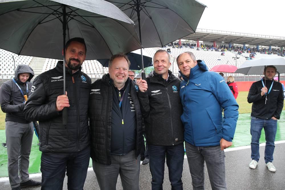 Dr. Florian Kamelger, Dr. Andy Palmer, Dr. Andreas Baenziger, Gerhard Berger