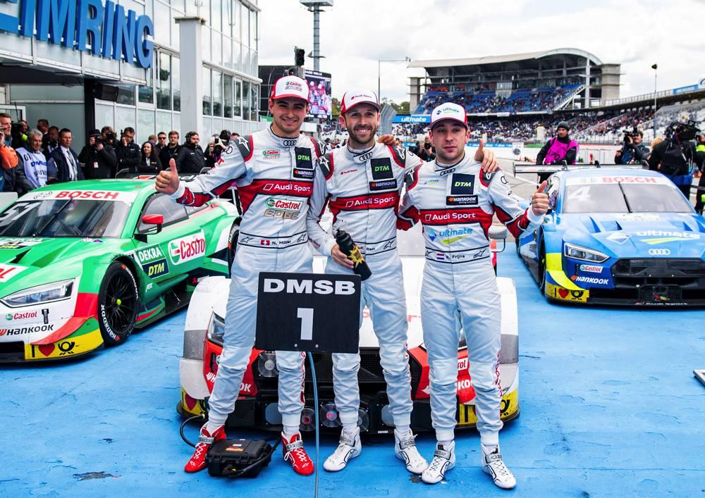Nico Müller und Robin Frijns komplettieren reines Audi-Podium