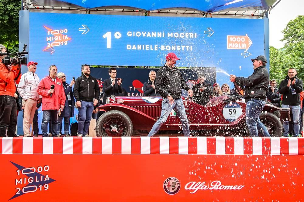 G. Moceri/ D. Bonetti haben im Alfa Romeo 6C 1500 Super Sport (1928) die Mille Miglia 2019 gewonnen