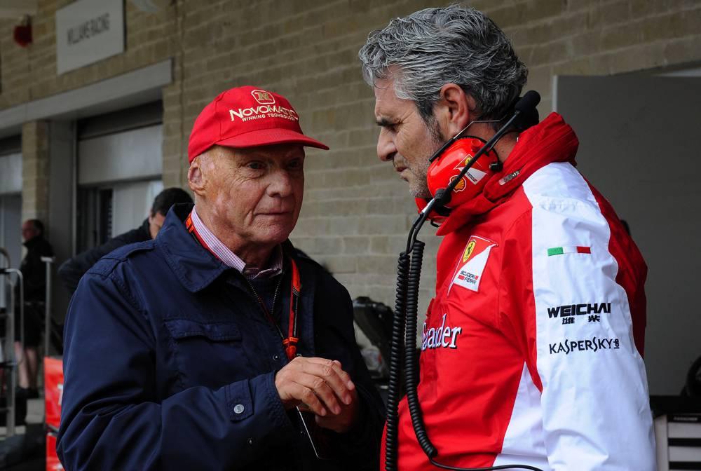 Niki Lauda und Maurizio Arrivabene