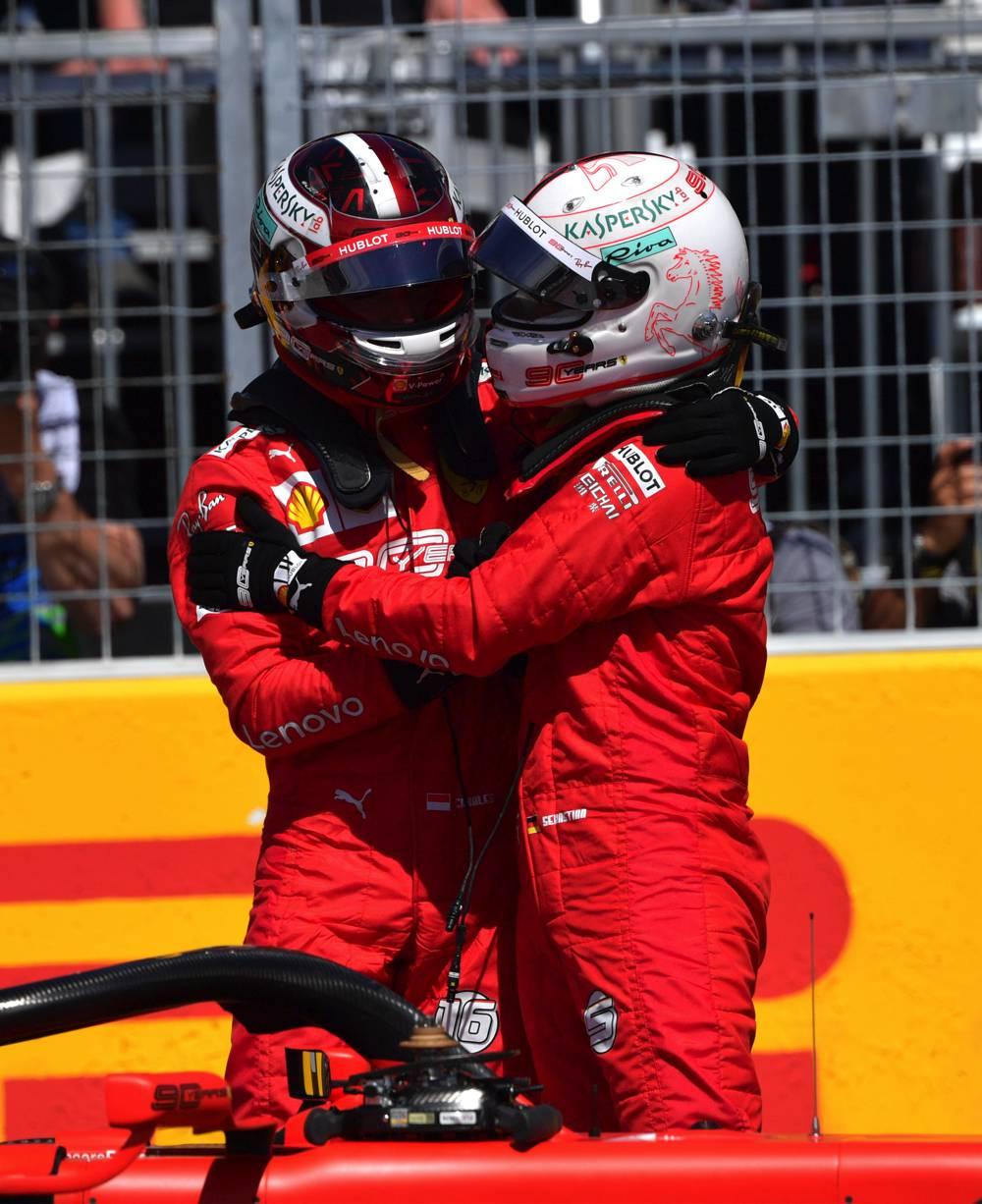 Vettel startet aus der Pole und Teamkollege Leclerc aus P3