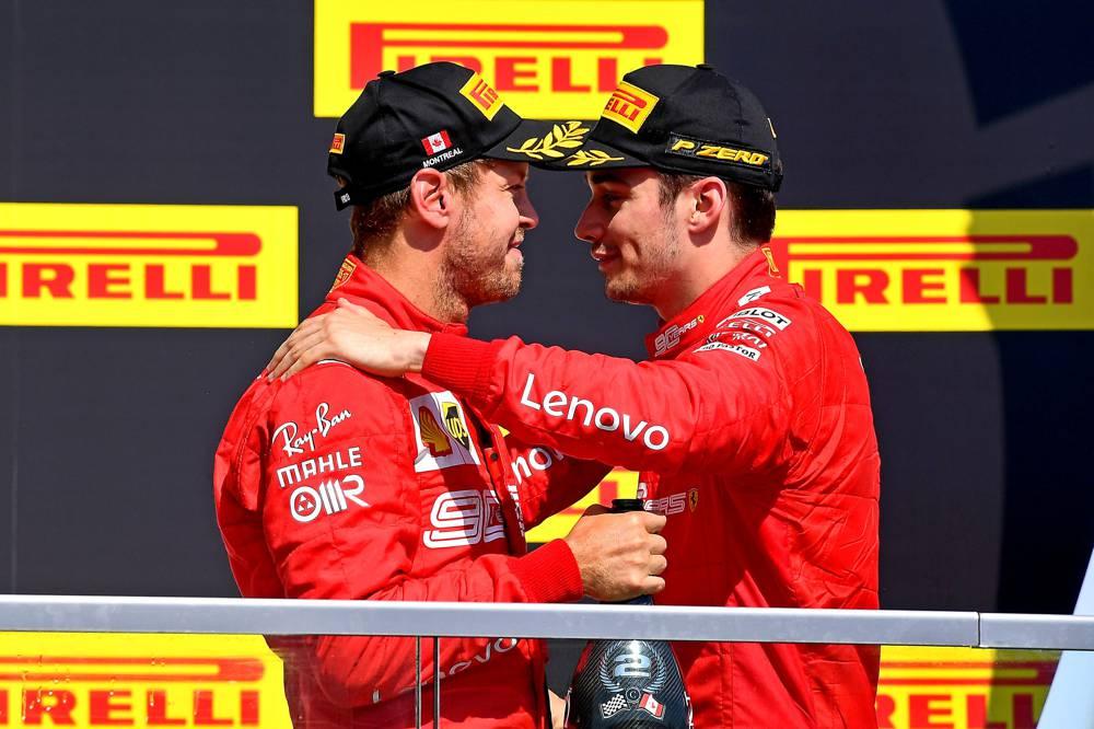 Zum 1. Mal in dieser F1 Saison stehen 2 Ferrari Fahrer auf dem Podium