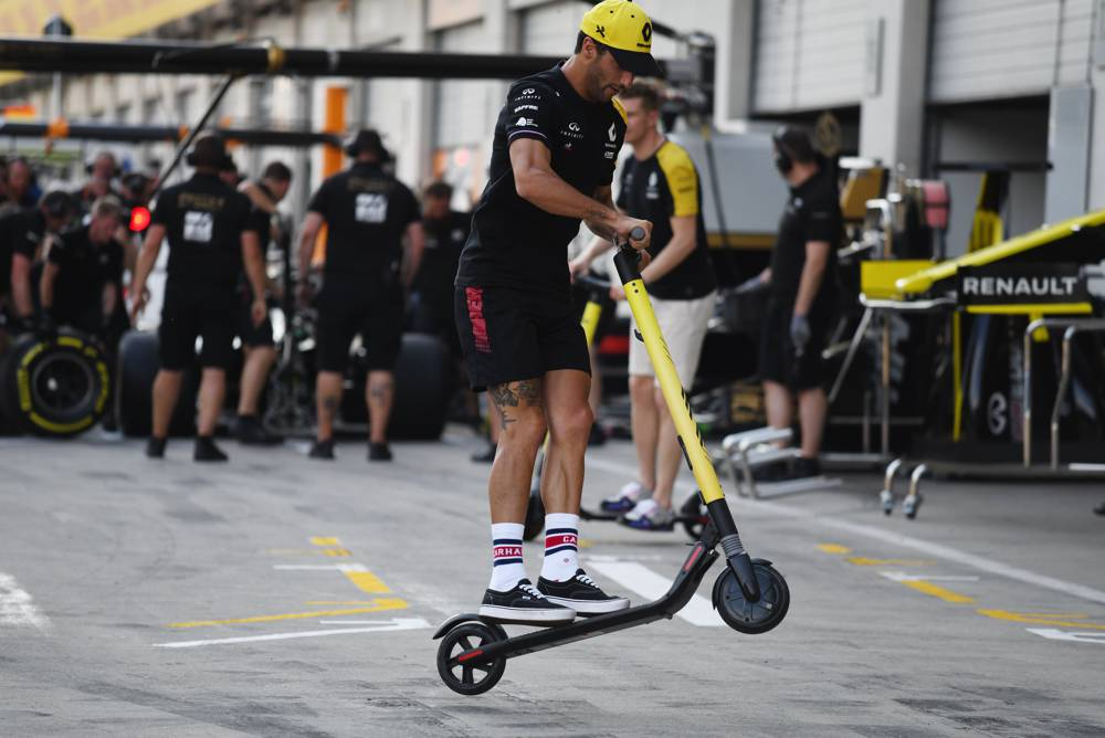 Daniel Ricciardo in der Pitlane