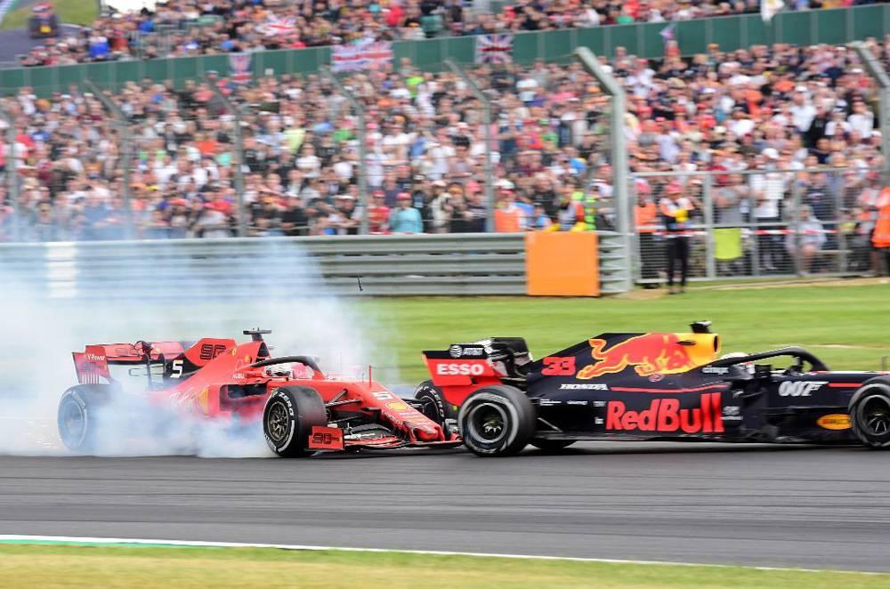 Kollision zwischen Vettel und Verstappen