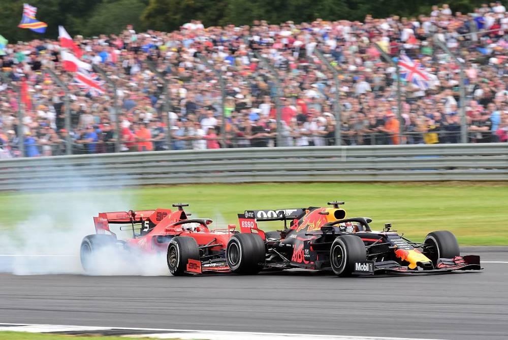 Vettel fuhr Verstappen in der 38. Runde ins Heck