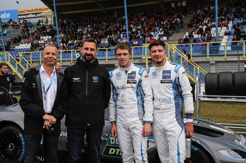 Dr. Andreas Baenziger, Dr. Florian Kamelger, Paul Di Resta und Jake Dennis