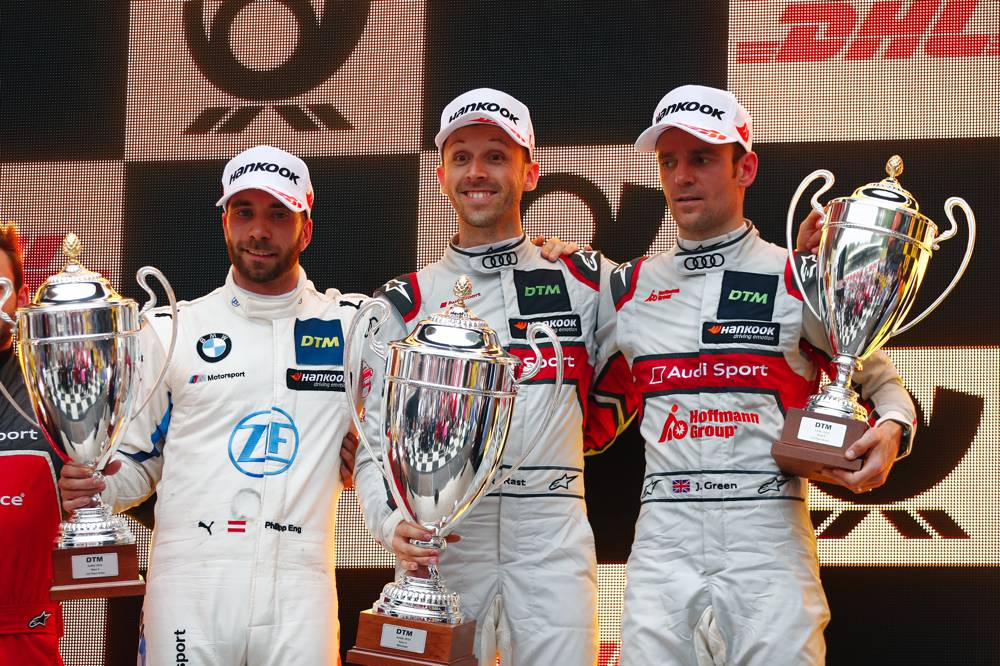 Philipp Eng (BMW), Rene Rast (Audi), Jamie Green (Audi), Zolder 2019