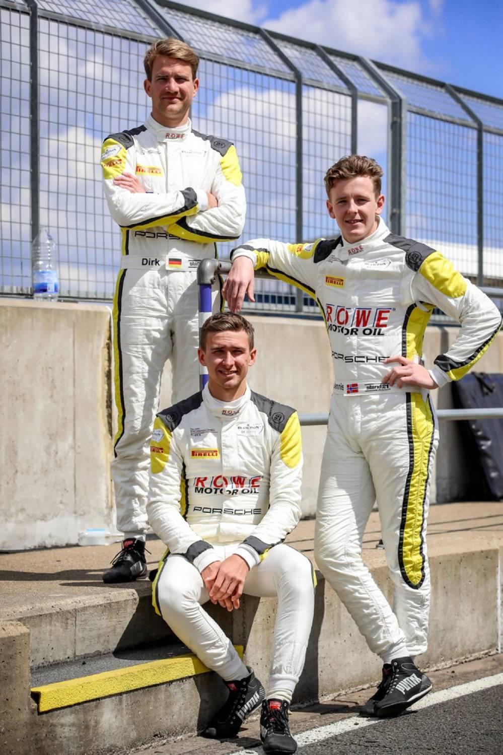 Dirk Werner (D), Matt Campbell (AUS), Dennis Olsen (DK), ROWE Racing