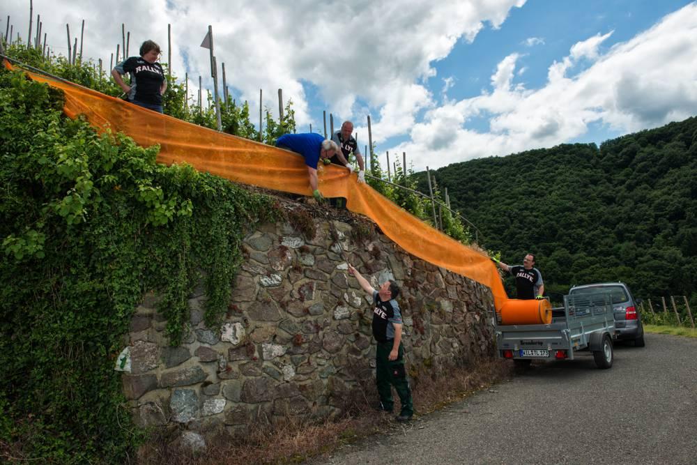 Der Streckenaufbau bildet einen Schwerpunkt im Umwelt-Konzept der ADAC Rallye Deutschland