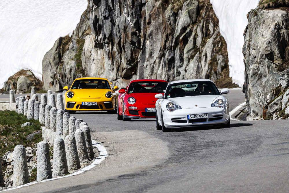 Porsche 911 GT3: Generationen 996.2, 997.2 und 991.2