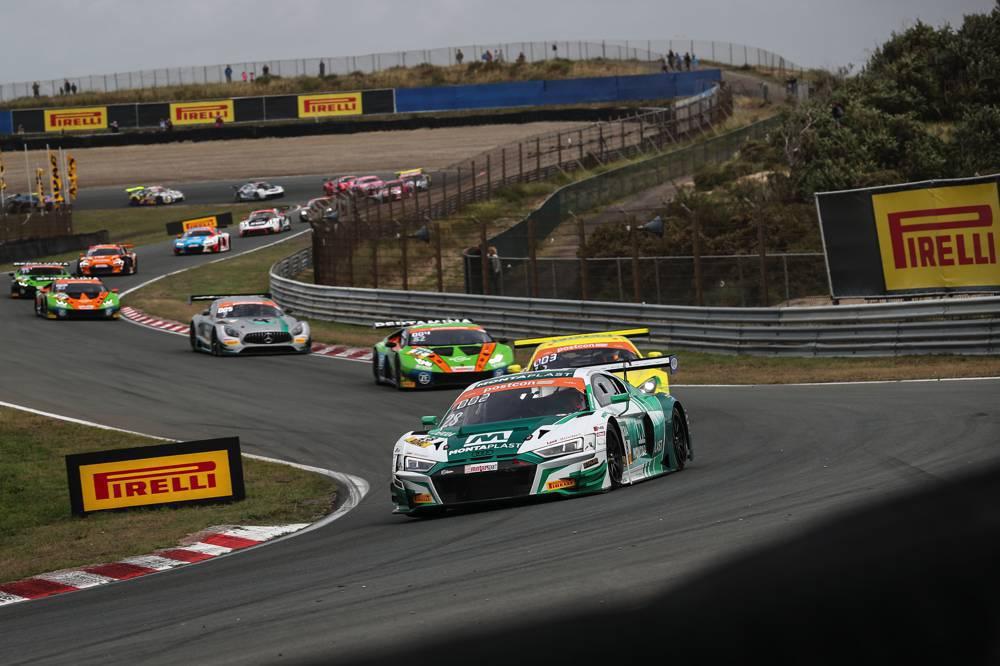 Dries Vanthoor und Ricardo Feller (vorn) holen ihren ersten Sieg im ADAC GT Masters