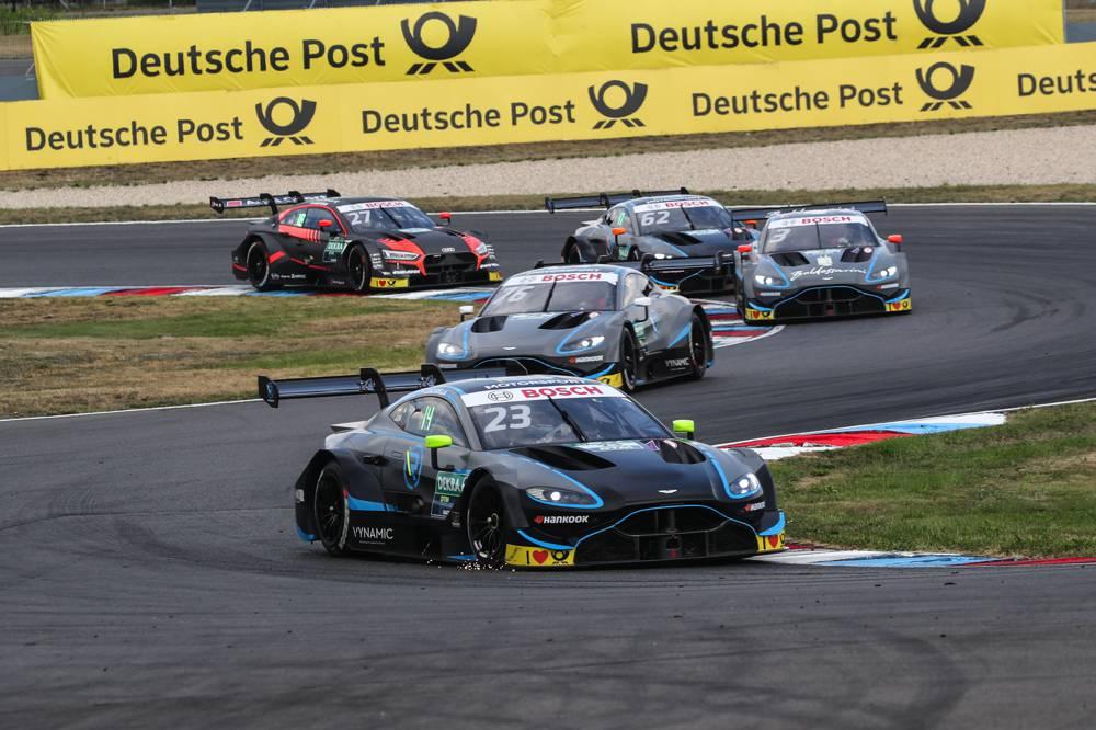 Aston Martin Vantage DTM startet auf dem Lausitzring ins letzte Saisondrittel