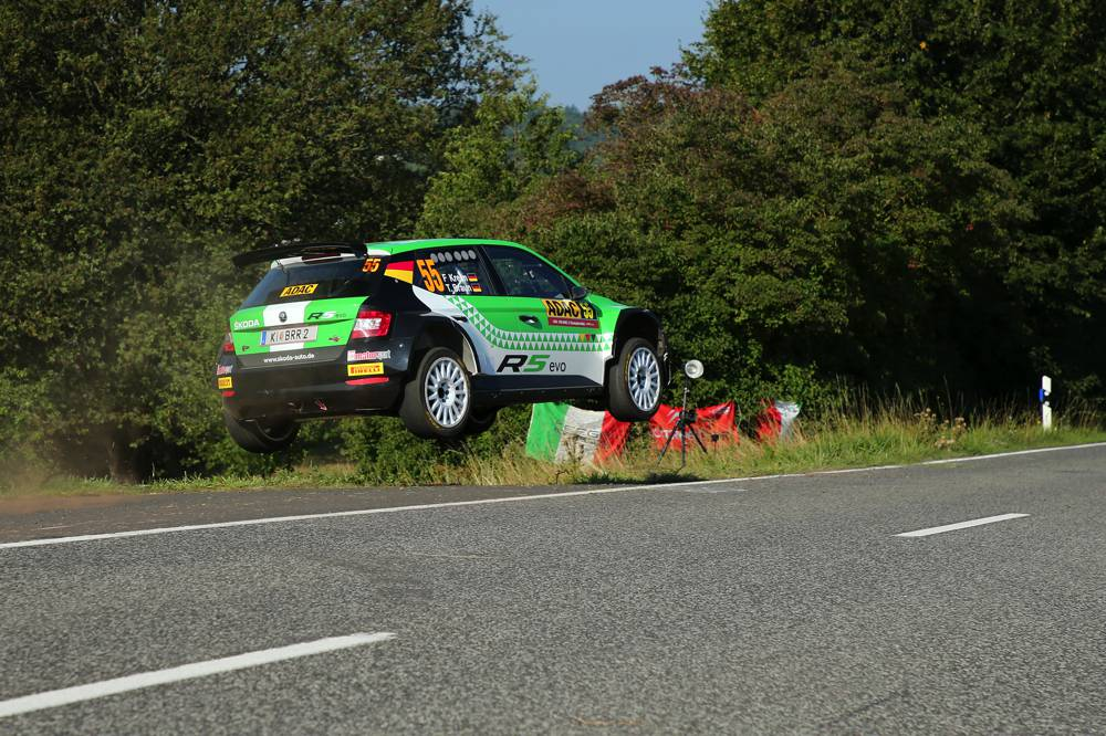 Deutsche Doppelführung durch Fabian Kreim und Marijan Griebel in der WRC 2