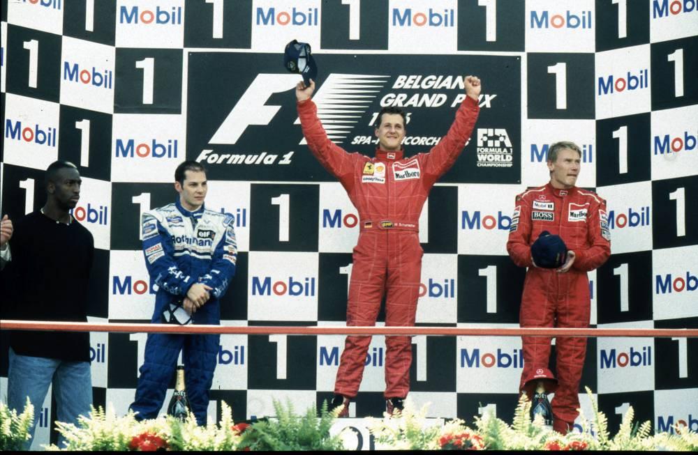 Michael Schumacher triumphierte 6mal in Spa