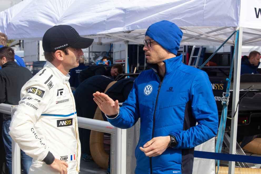 Romain Dumas, Stéphane Folio, Performance and Data Engineer Volkswagen Motorsport