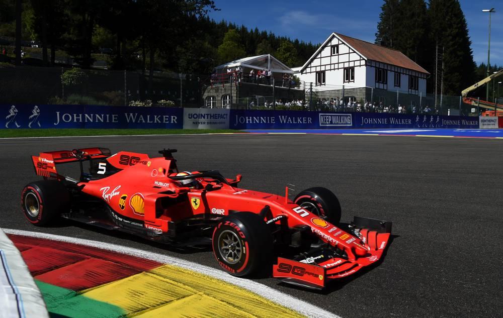 Die 1. Startreihe in Belgien ist ganz Rot: Leclerc vor Vettel