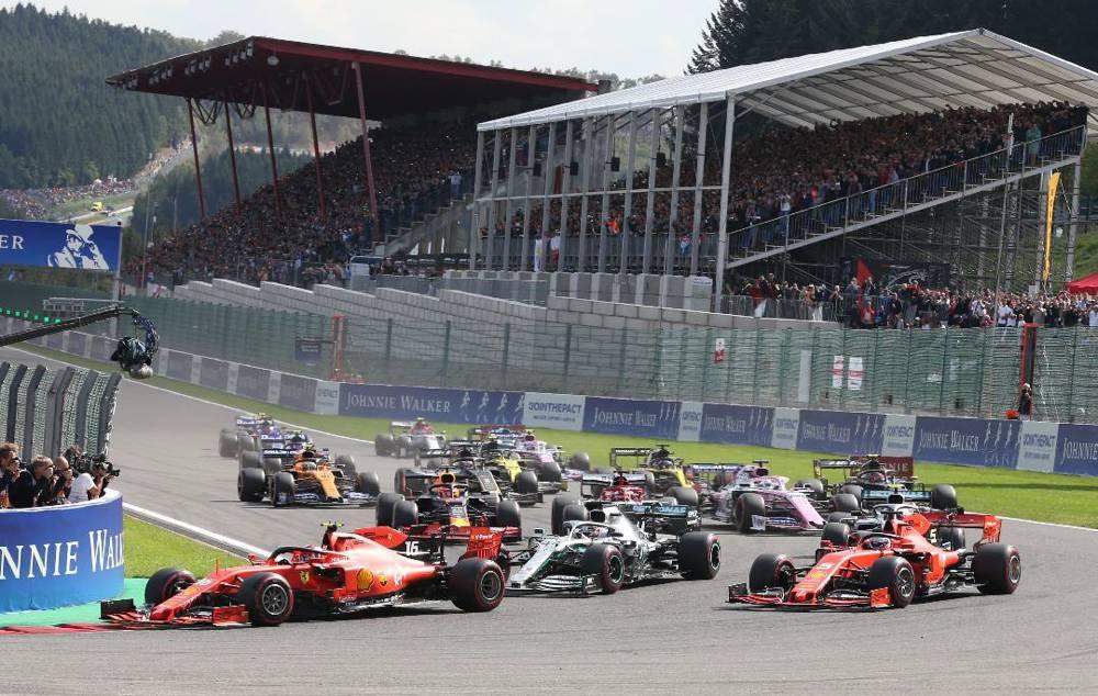 Der Start zum Formel 1 GP Belgien 2019