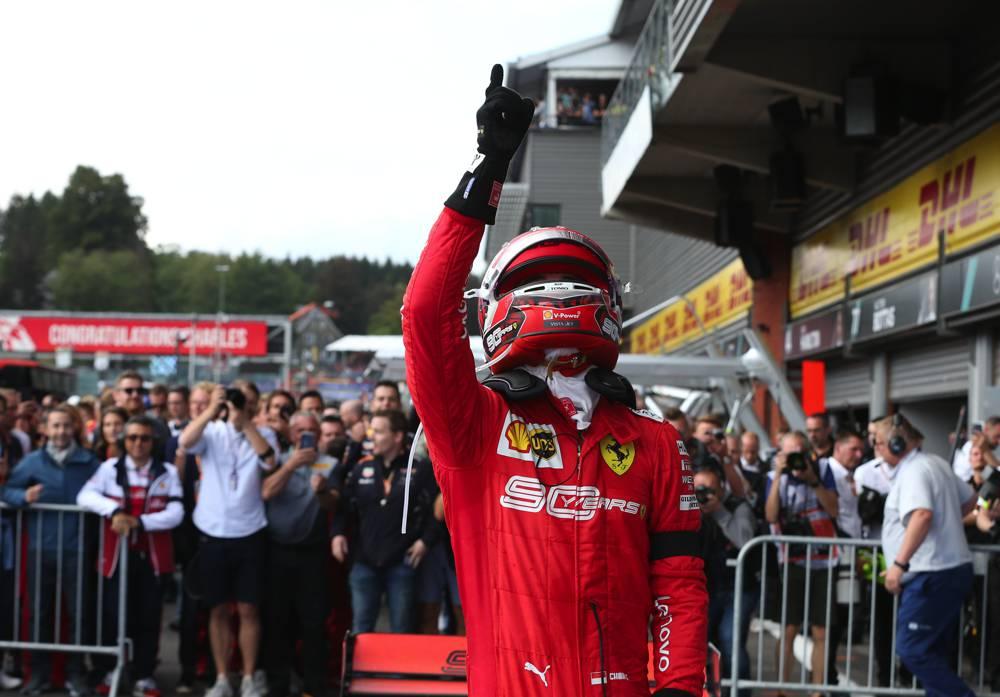 Leclerc siegt in Spa vor Hamilton und Vettel