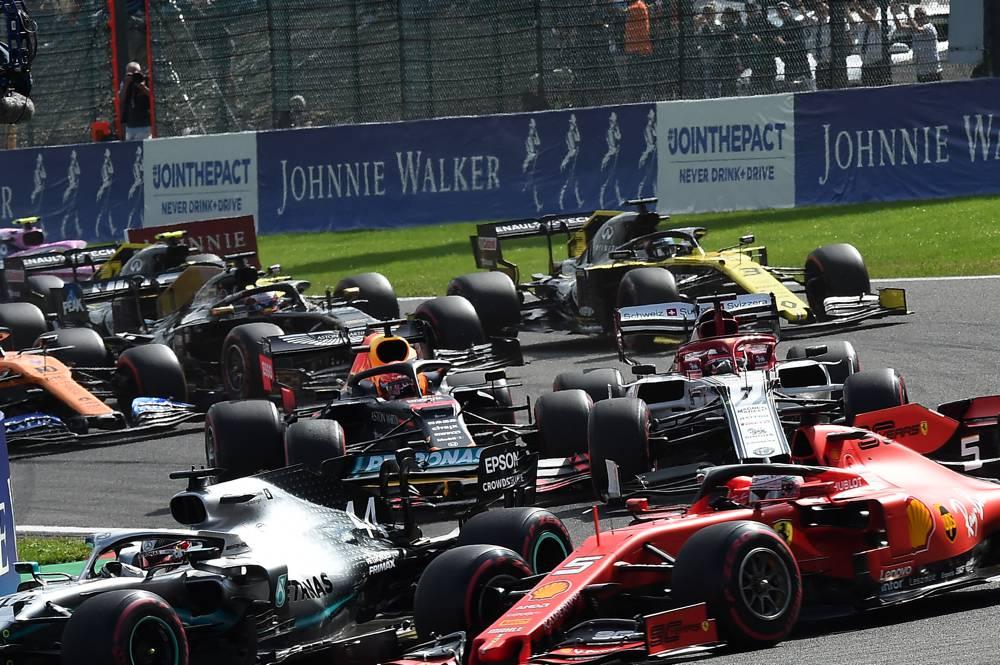 Der Start zum Formel-1 GP Belgien war dramatisch