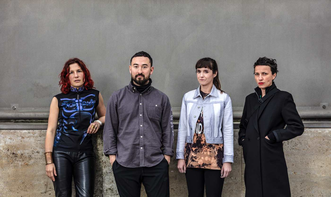 Die nominierten Künstler: Pauline Curnier Jardin/Simon Fujiwara/Katja Novitskova/Flaka Haliti (v.l.)