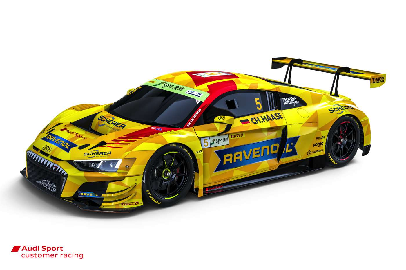 Audi R8 LMS #5 (Phoenix Racing), Christopher Haase
