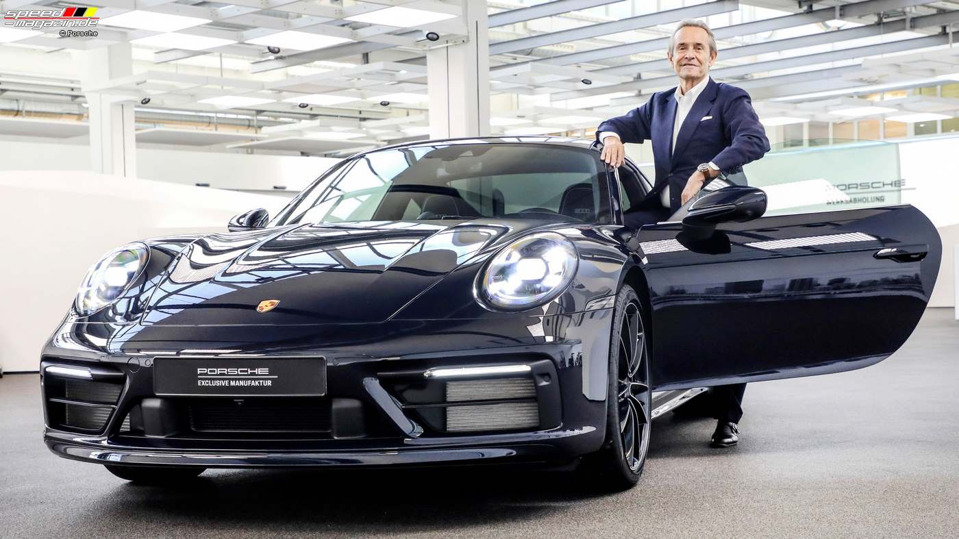 "Sonderedition des Porsche 911 (992) ""X Blue"